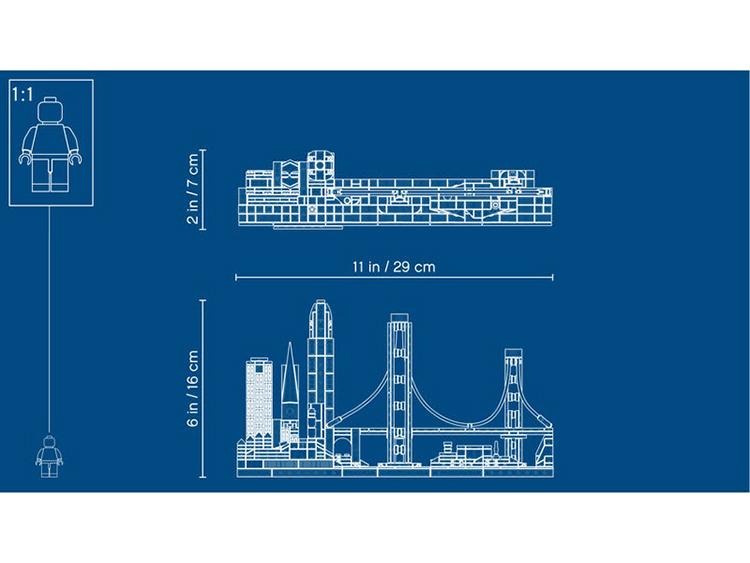 21043 San Francisco Lego Architecture plano