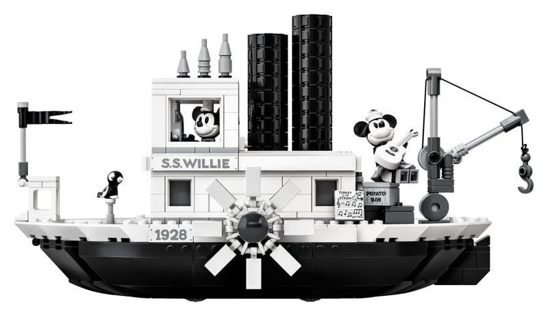 21317 Steamboat Willie Lego Ideas set completo