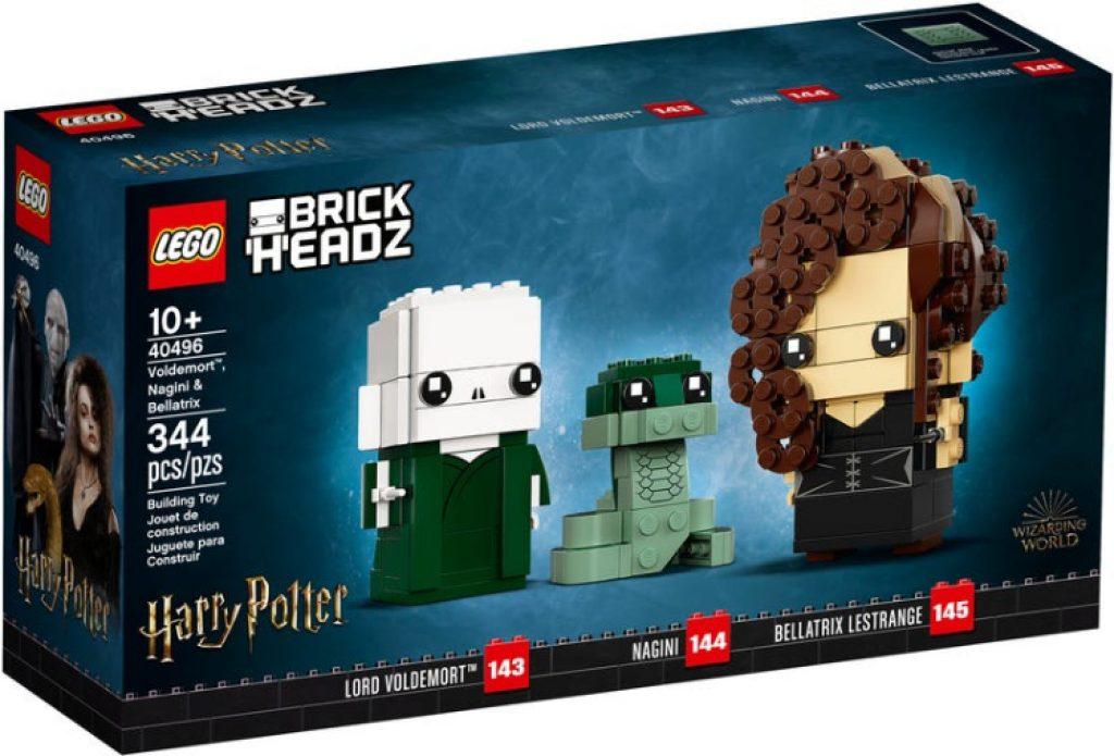 40496 voldemort nagini y bellatrix lego brickheadz comprar
