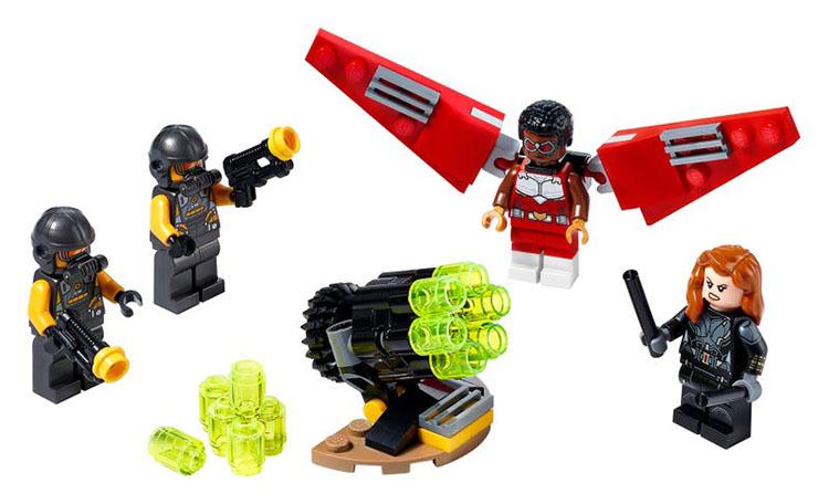 40418 Union de Falcon y Viuda Negra Lego Marvel instrucciones