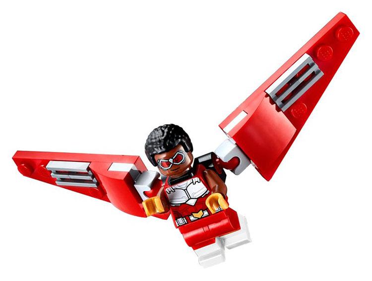 40418 Union de Falcon y Viuda Negra Lego Marvel minifiguras