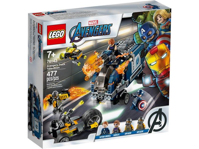 76143 Vengadores Derribo del Camion Lego Marvel caja