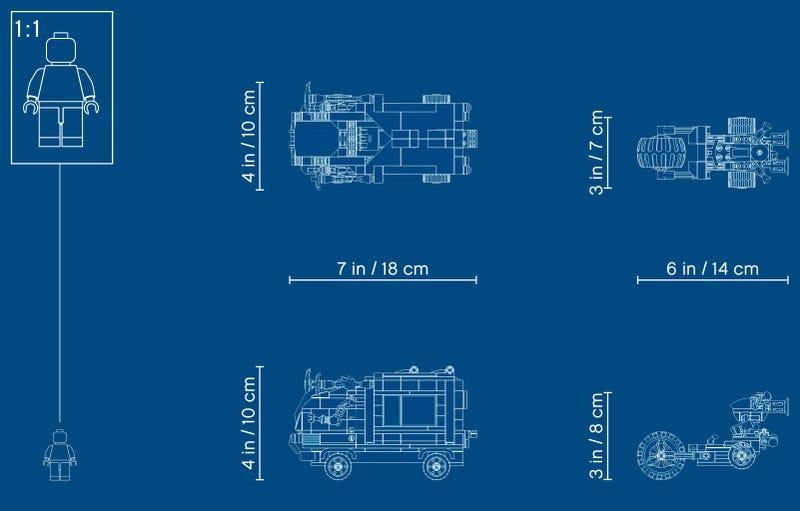 76143 Vengadores Derribo del Camion Lego Marvel mapa