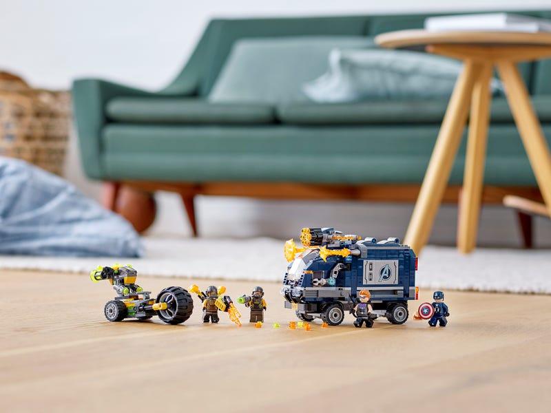 76143 Vengadores Derribo del Camion Lego Marvel montaje
