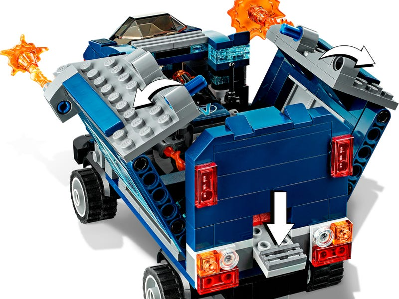 76143 Vengadores Derribo del Camion Lego Marvel review completa
