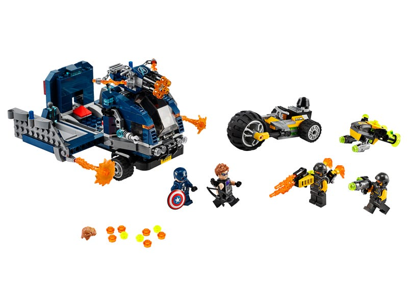 76143 Vengadores Derribo del Camion Lego Marvel set completo