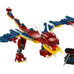 31102 Dragón Llameante - Creator 3 en 1